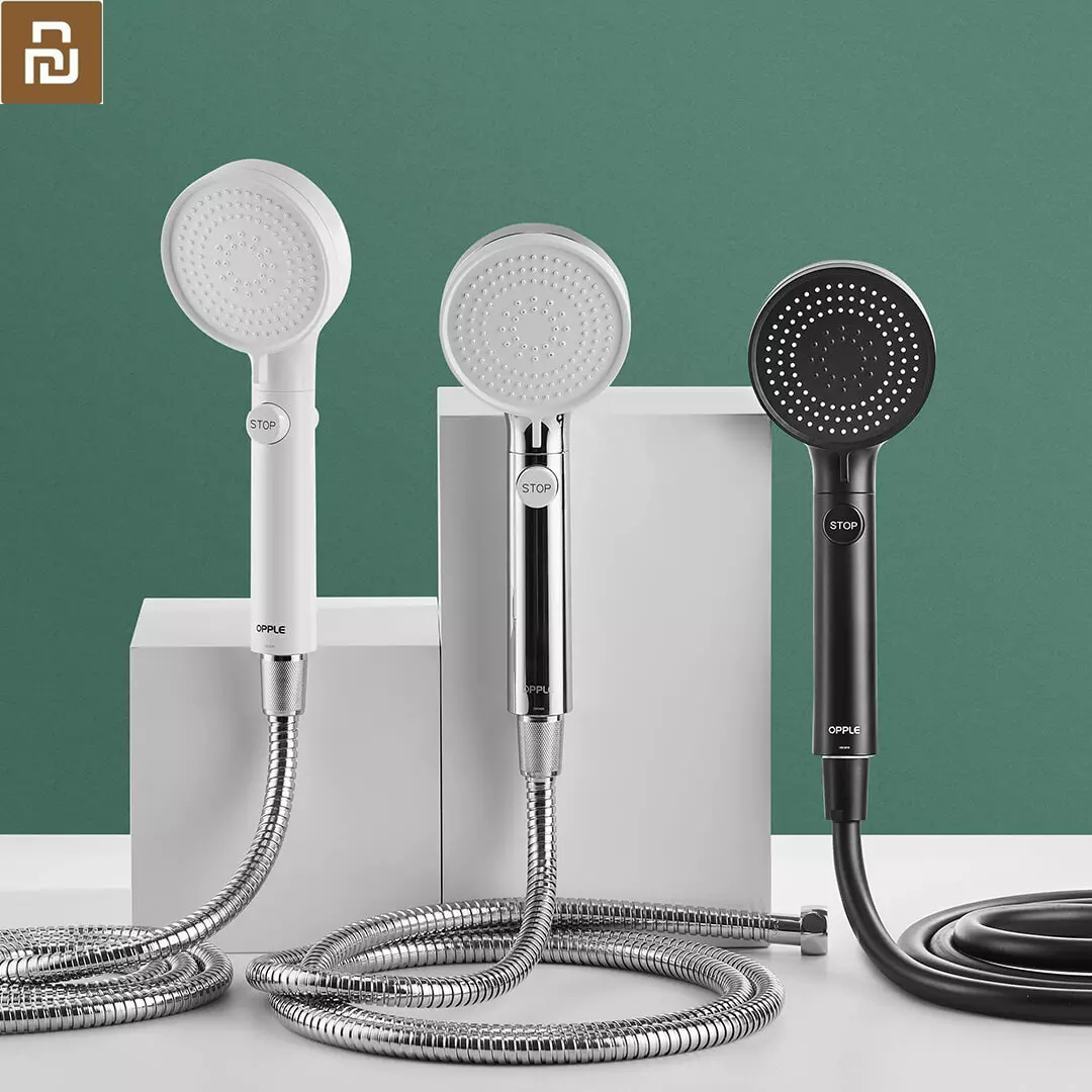 Xiaomi Youpin OPPLE Booster Hand Shower Set  Supercharged Third Gear Water Mode One-click STOP Button