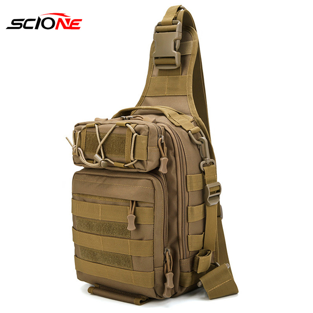 Mochila De Pesca bolsas de escalada mochila de hombro militar al aire libre, mochila para deporte, Camping, bolsa de pesca Molle Army XA36G