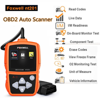 NT201 Auto OBD OBD2 Scanner Check Car Engine Light Fault Code Reader Diagnostic Scan Tool for Multi Brand Cars OBD 2 Diagnosis