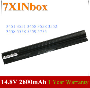 7XINbox 14.8V 2600mAh Laptop Battery 1KFH3 GXVJ3 WKRJ2 M5Y1K For Dell Inspiron 3451 3551 3458 3558 3552 3558 5558 5559 5755 image