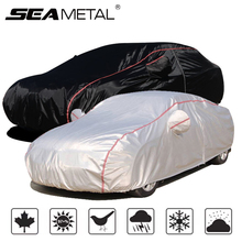 Car Cover Waterproof Full Exterior Covers All Weather Protection Outdoor Full Snow Cover with Zipper Universal Fit for Sedan SUV