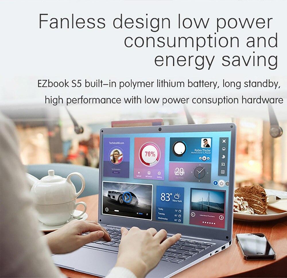 Jumper EZbook S5 14.0 Inch Laptop Apollo N3350 6GB DDR4L+64GB eMMC Windows 10 1920*1080 FHD Ultrathin Notebook 5