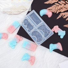 Epoxy Resin Keychain Mold Game-Console-Handle Crystal Silicone Jewelry-Tools-Decoration