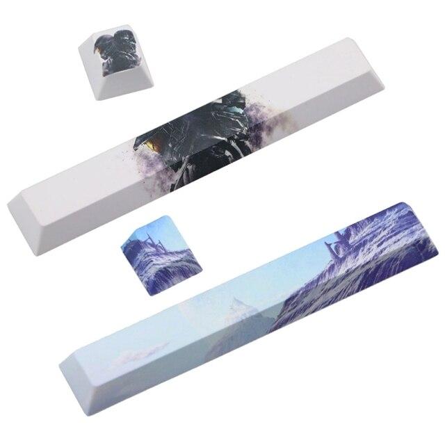 клавиатура клавиатуры spacebar pbt пятисторонняя красящая подставка фотография