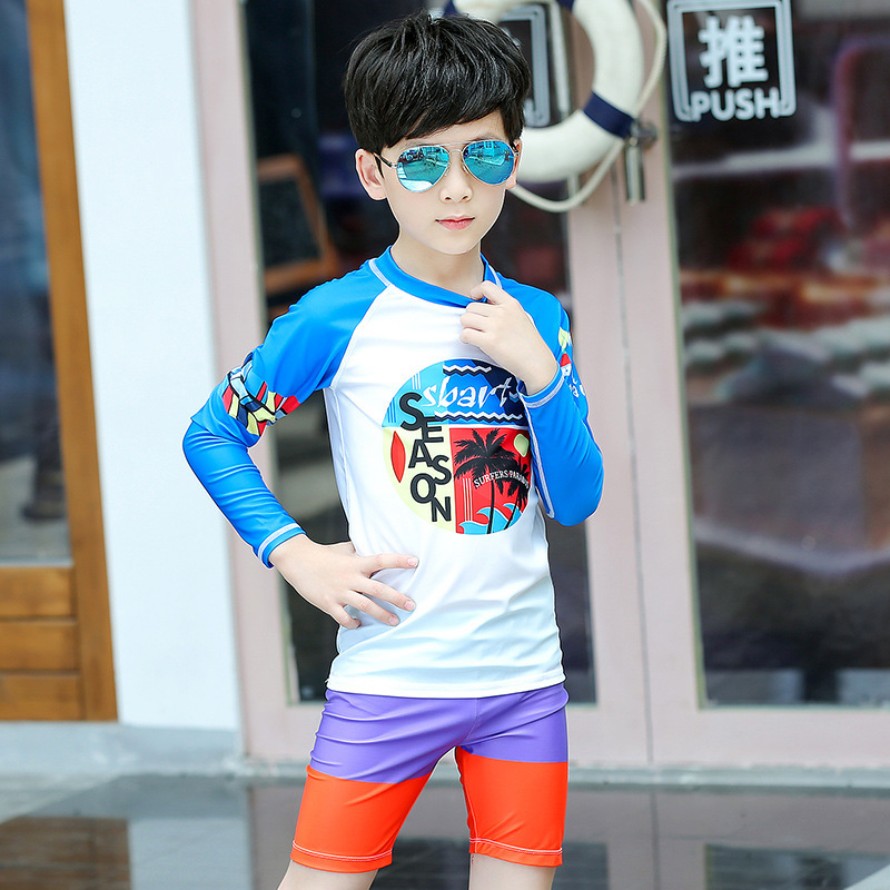 Sbart KID'S Swimwear BOY'S Swimming Trunks Big Boy Split Type Tour Bathing Suit Baby Sun-resistant Quick-Dry Swimming Suit