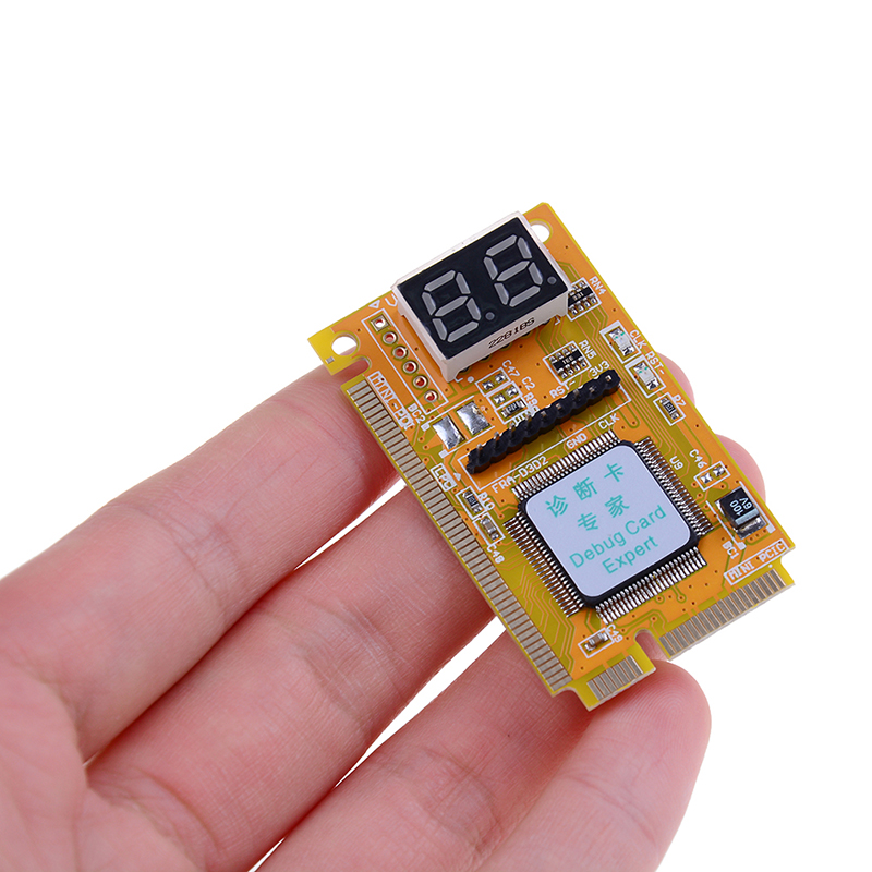 Mini PCI-E LPC PC Analyzer Tester POST Card Test For Notebook Laptop Hexadecimal Character Display 5