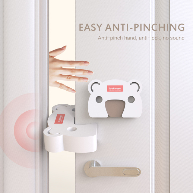 2pc Cartoon Door Stopper Baby Safety Door Block Door Clip Anti-pinch Hand Baby Safety Door Card Baby Safety Accessories Dropship 5