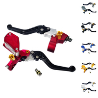 New RACING PARTS CNC Folding Brake Lever Clutch Lever with Front Pump for CRF KLX YZF RMZ Motorcycle Dirt Bike