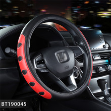 Leather Wood Car Steering Wheel Covers Case Auto Interior Accessories For Nissan Mazda cx-5 Touran golf 4 Toyota Peugeot Ford