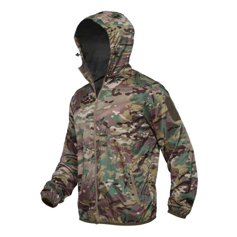 3 Uomini di colore delle Tattico Militare Uomini Giacca Calda Giacca A Vento Bomber Giacca Mimetica Con Cappuccio Cappotto US Army chaqueta hombre Nuovo 7