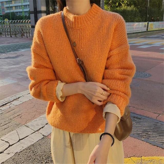 Ladies Chunky Round Neck Sweater 2