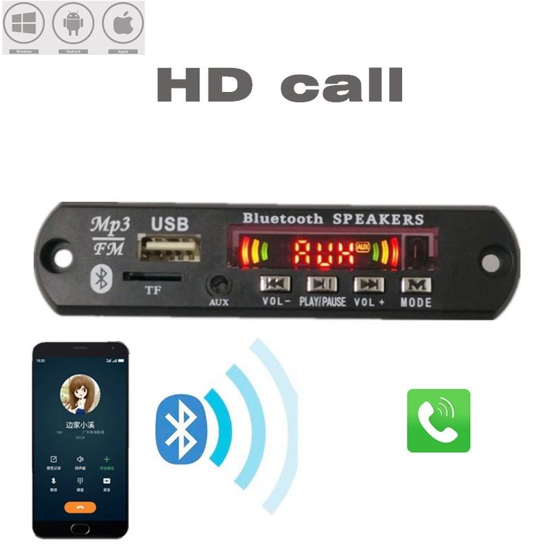 2*3W Amplifier Bluetooth 5.0 MP3 Player Decoder Board 5V 12V Car FM Radio Module Support FM TF USB AUX Handsfree Call Record