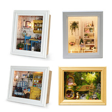 Кукольный домик деревянная рамка Миниатюрный Кукольный домик с мебельными комплектами DIY модель дома сборные ремесленные игрушки для дете...
