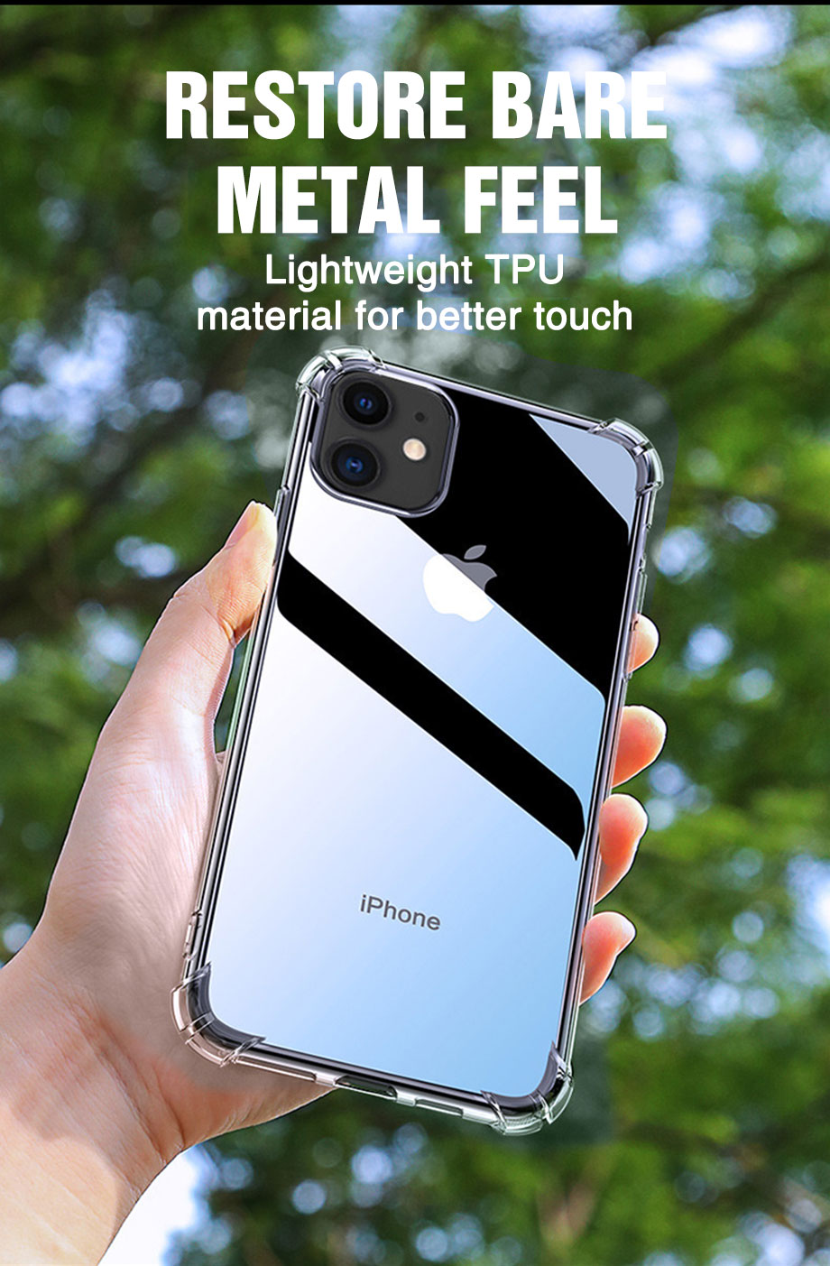 Transparent Shockproof Soft Silicone Case for iPhone 12
