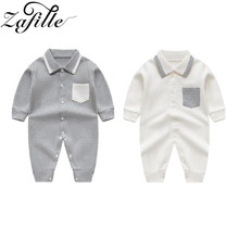 ZAFILLE 2020 Baby Boy Clothes Long Sleeve Unisex Baby Romper Solid Girls Clothing Cotton Newborn Infant Kids Clothes Jumpsuits zafille long sleeve baby romper printed baby boy clothes cotton newborn infant baby girl clothing kids clothes baby jumpsuits