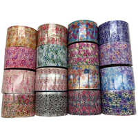 16 Rolls 3D Adhesive Flower Leaf Starry Sky Nail Art Nails Stickers DIY Manicure Transfer Butterfly Rose Decals Wholesale