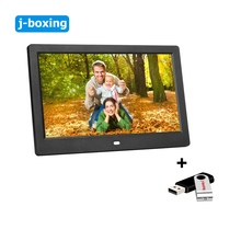 10 inch LCD Digital Photo Frame Electronic Movie Music Video Player Remote Picture MP3 MP4 Clock with 32gb flash pen drive black 10 inch digital picture frame 1024x600 display electronic album photo music video clock calendar e book remote control gift