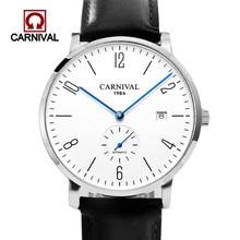 Relogio Masculino Carnival Brand Luxury Automatic Watch Men Ultra Thin Business