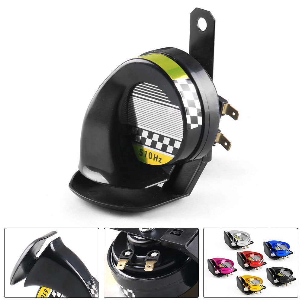 115DB 510Hz Snail Siren Horn Speaker Waterproof Electric Snail Horn Air Horn 12V for Motorcycle Auto Car Scooter