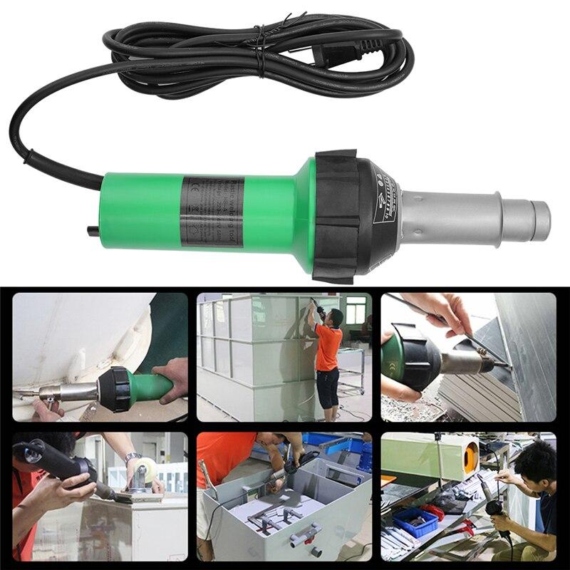 Tools : 1600W Plastic Welder Welding Tool Heat Heating Gun Torch Hot Air Pistol PVC Welder Machine Kit Set With Butterfly Flooring