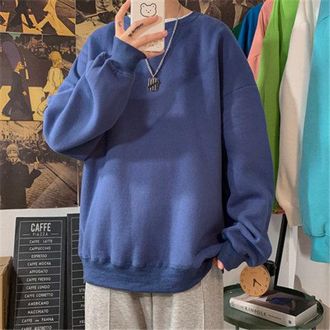 loose Korean style plus size sweatshirt winter clothes streetwear women 2020 new fashion plus velvet oversize harajuku hoodie 9