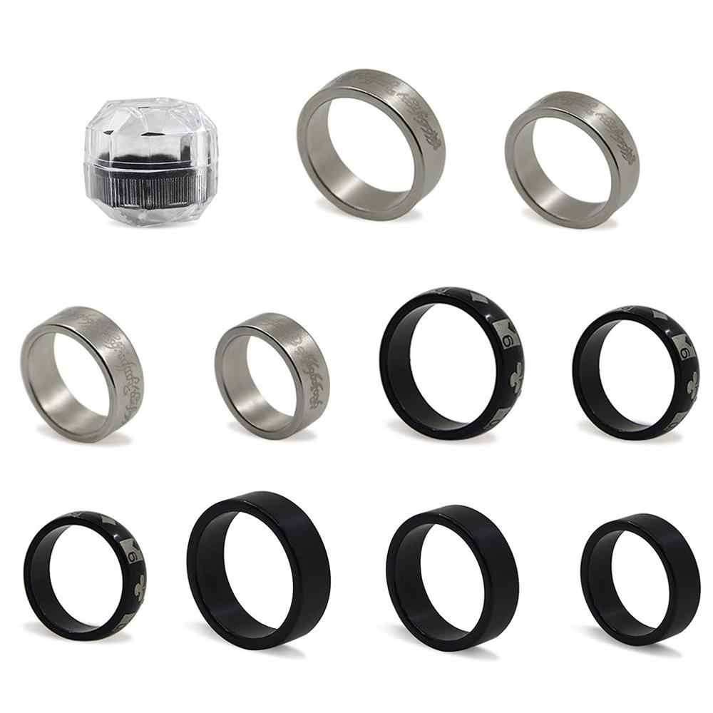 Nuevos 3 estilos anillo magnético fuerte PK trucos de magia accesorios de magia moneda trucos de magia Y4UD