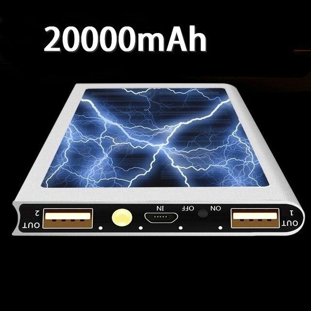 Solar Power Bank 30000mAh Portable Waterproof Battery Powerbank Fast Charging External Battery LED for All smartphones 3