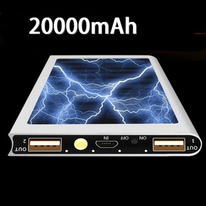 Image 3 - Solar Power Bank 30000mAh Portable Waterproof Battery Powerbank Fast Charging External Battery LED for All smartphones