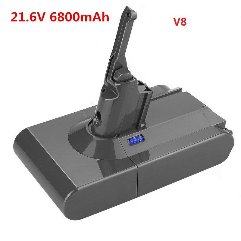 Hohe Qualität 6800mAh 21 6 V Li Ion BATTERIE Staubsauger Akku Für Dyson V8 Absolute V8 Tier 6.8Ah-in Wiederaufladbare Batterien aus Verbraucherelektronik bei title=