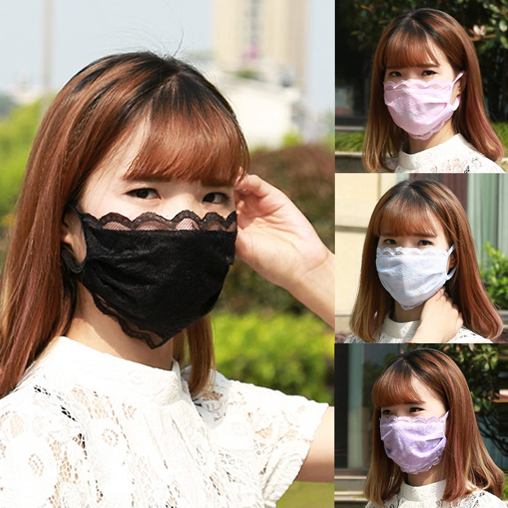 Women Mouth Mask Breathable Cotton Fashion Reusable Face Pink Shield Wind Proof Flower Mouth Cover Fabric Face Masks#4