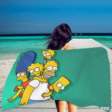 Anime ręcznik kąpielowy łazienka Cartoon Simpson ręcznik plażowy Toallas oczyszczająca do kąpieli ręcznik ręcznik do twarzy kolor ręcznik podróżny tanie tanio HANDMADE Rectangle 0 23~0 48KG Można prać w pralce 15 s-20 s Drukuj Tkanina z mikrofibry PRINTED