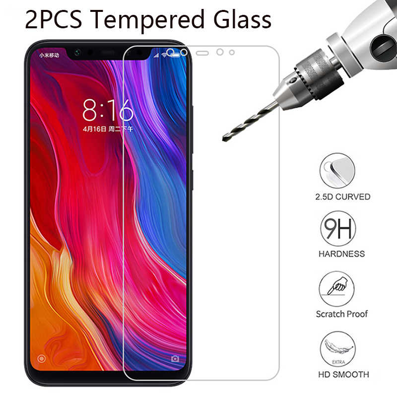 2PCS 2.5D Glass on For Xiaomi Redmi 8A K20 Pro 7 7A Tempered Glass Screen Protectors Film on For Xiaomi Mi 9T Pro A1 A2 A3 Lite