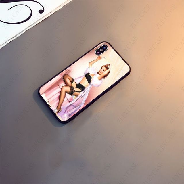 Pin Up Girl black Soft silicone Phone Cover For iphone x xs xr xsmax 11 12pro max 5s SE 2020 6splus 7 8plus 12mini case