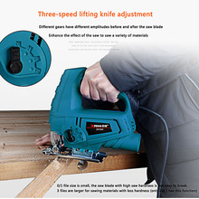 710W Jigsaw Hand Electric Reciprocating Chain Saw Tools Metal Cutting Jig Saw Machine Power Tool Chainsaw with 10 Pieces Blades tenwa 220v jig saw electric saw woodworking power tools 450w 710 multifunction chainsaw hand saws cutting machine wood saw