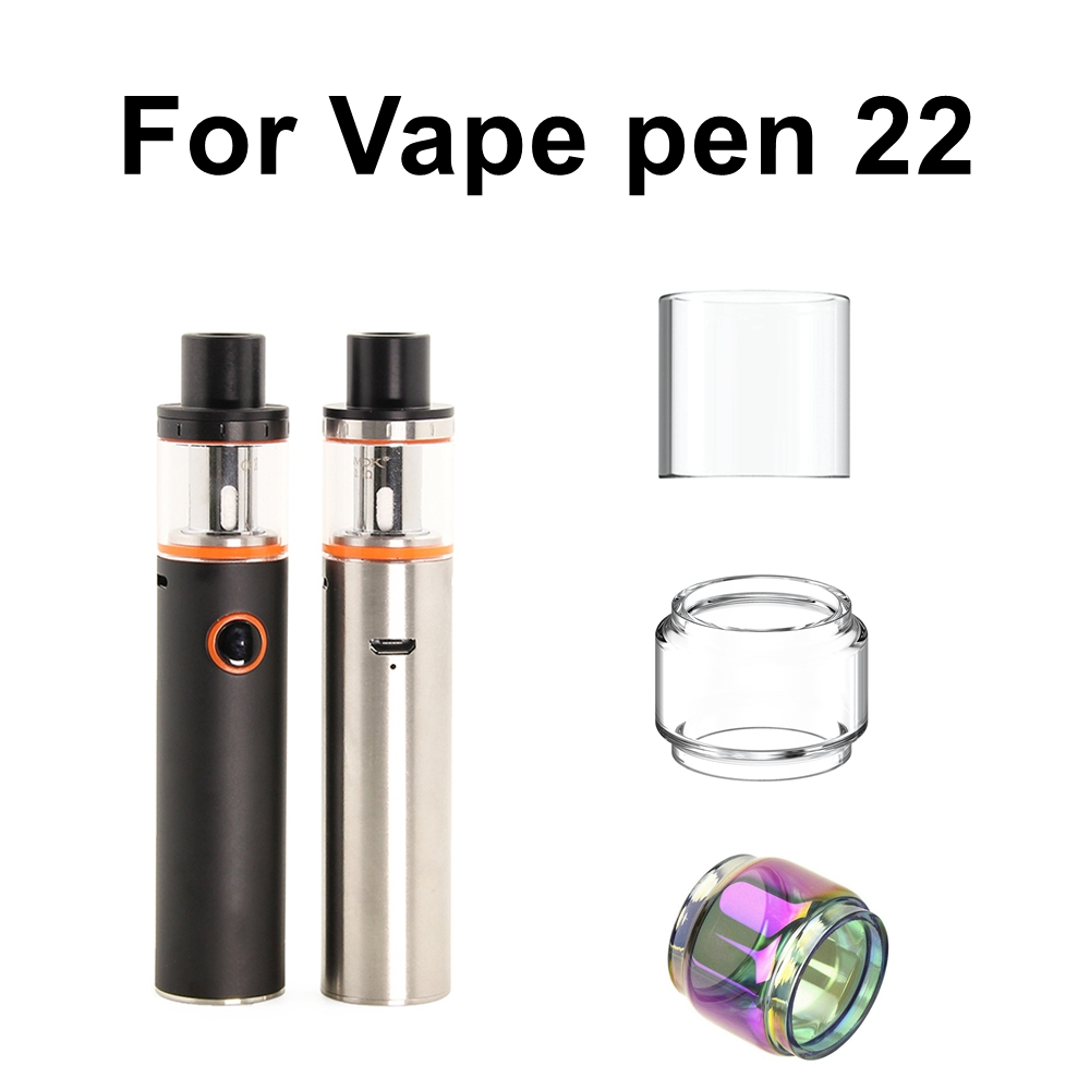 Replacement Pyrex Glass Tank Tube For Smok Vape Pen 22 Kit Atomizer Glass Tube Vape Electronic Cigarette Accessories