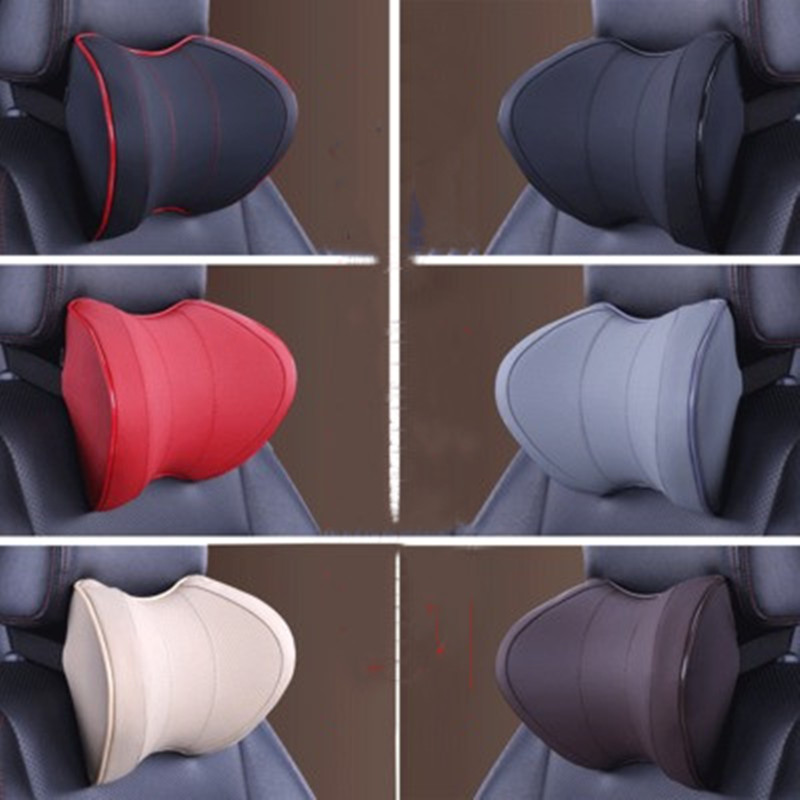Car Seat Head Neck Rest Massage Auto Pillow Space Memory Neck Headrest Car Cover Vehicular Pillow Seat Headrest Accessories