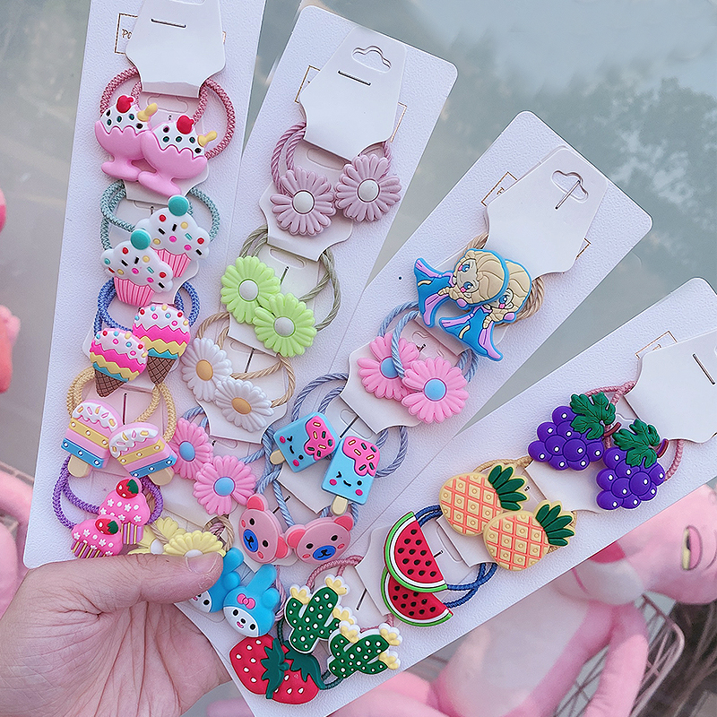 20/10/2Pcs/Set Suitable For Girls Children Lovely To Use Cartoon Flower Bow Fruit  Mixed Headband  Kids Hair   Accessories