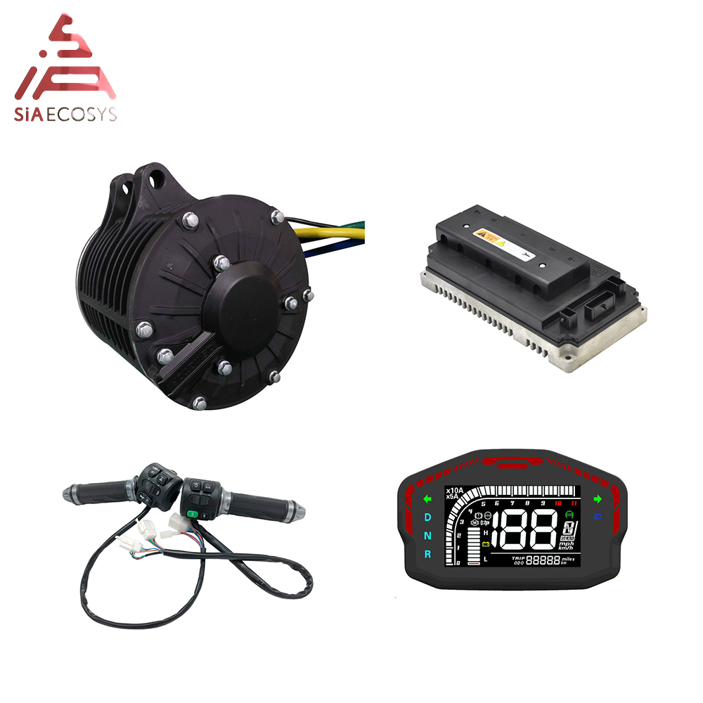 QS 138 <font><b>3000W</b></font> 72V 100KPH new appearance mid drive motor power train kits with motor controller image