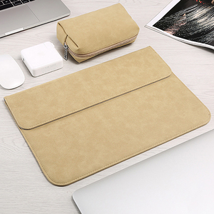 Image 4 - Matte Soft Laptop Sleeve Bags Case For Apple Macbook Air 13 11 Retina 15 13 12 inch,cover for 2019 new Pro 16 With power pack