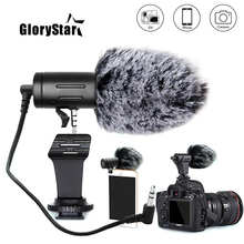RYH 3.5mm Plug Camera Microphone Condenser Recording Microfone Ultra wide Audio Studio MIC For Canon Sony Nikon DSLR DV Vlog
