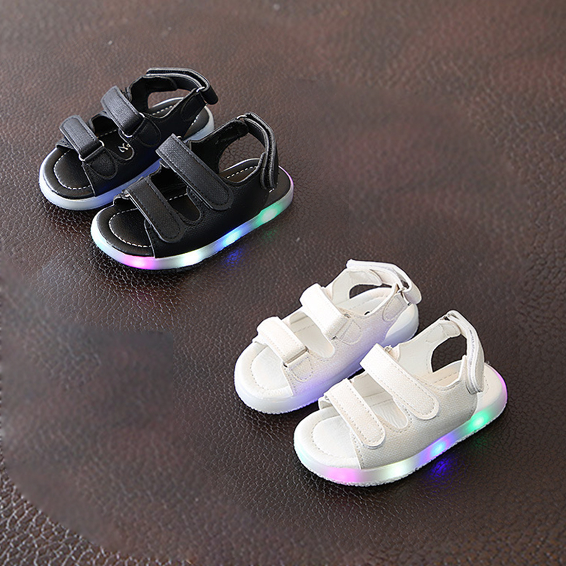 Summer Velcro Children Sandals Summer Non-Slip First Walkers Infant Kids Baby Girls Beach Sneaker Sandals Casual Shoes