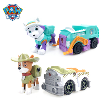 Paw Patrol Dog Everest Tracker Snow Jungle Rescue Cars Pull Back Music Patrol Ski Vehicle Anime Figure Action Model Toys Collect snow patrol snow patrol reworked 2 lp