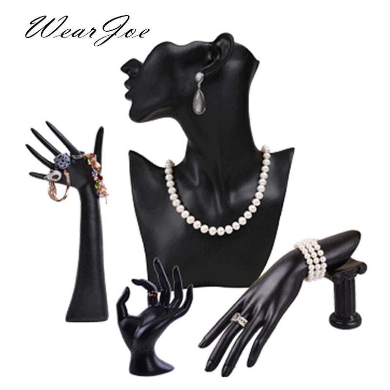 Elegancka żywica manekin pierścień kolczyk bransoletka biżuteria wisiorek stojak wystawowy na naszyjnik uchwyt biust Model pokaż udekoruj zestaw licznika