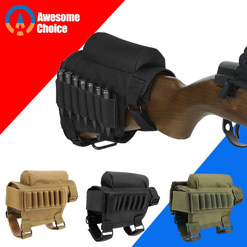 Gun Bandolier With Rain Cover Mag Magazine Molle Ga Cartridge Belt Tactical Pouch Reload Suppressor Baton Ammo Box 7 Gauge