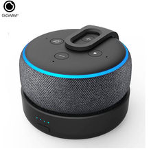 GGMM Originale Portatile di Carica Della Batteria di Base Per Amazon Echo Dot 3rd Gen Mini Altoparlante Senza Fili di Bluetooth Per Alexa con 8 ore(China)