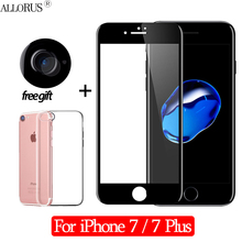New 2.5D 3-in-1 Case + Camera Tempered Glass For iPhone 7 Screen Protector Plus Full cover