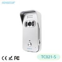 HOMSECUR IP44 Silber Outdoor Kamera TC021 S 700TVLine wih Weitwinkel 100 Grad Für HDW Video Tür Telefon System|Türsprechanlage|Sicherheit und Schutz -