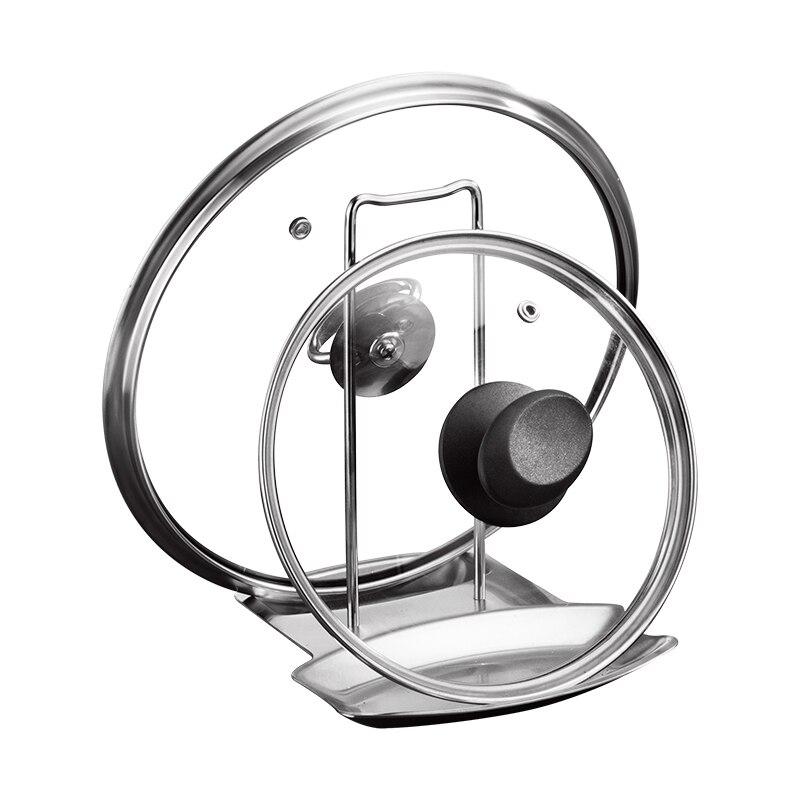 Kitchen Cooking Storage Machine Accessories Stainless Steel Pot Lid Pot Holder Bracket Spoon Holder Rest Clip LB917124