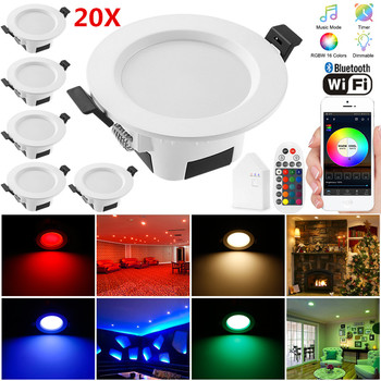 20X 9W 5W RGB Warm Cool White 5in1 LED Ceiling Lamp Down Light WIFI/Bluetooth Spotlight APP/Music Remote Controller Timer Dimmer