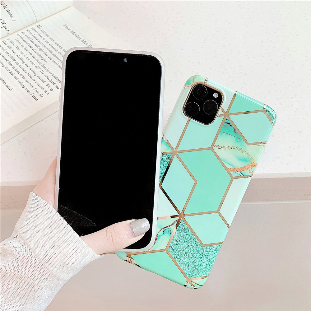 Marble Plating Case for iPhone SE (2020) 23